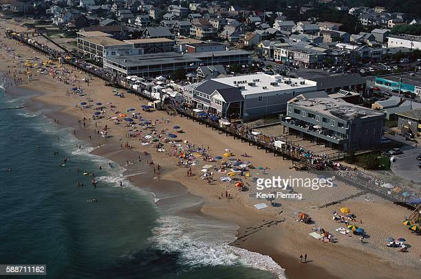 aerial view of bethany beach - bethany beach stock photos and pictures