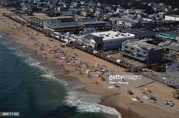 aerial view of bethany beach - デラウェア州 ストックフォトと画像