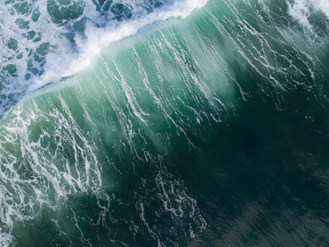 Aerial view of big wave on the sea - gettyimageskorea