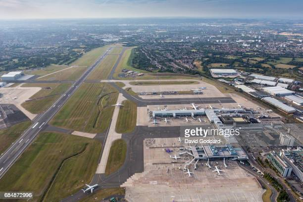 Aerial view of Birmingham airport. Located six miles east of Birmingham city centre and one mile north of Solihull lies the U.K.'s seventh busiest...