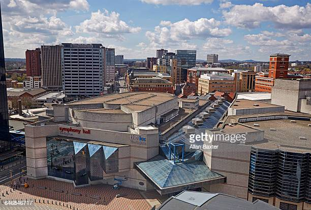 Aerial view of Birmingham cultural district