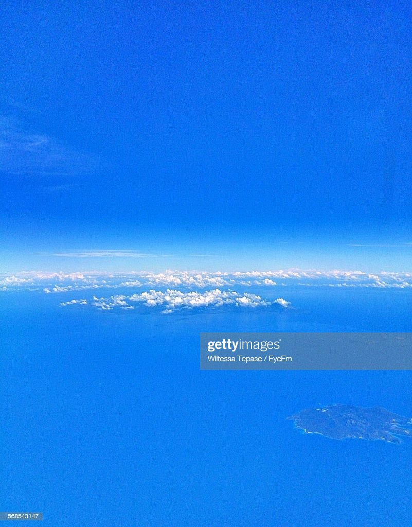 Aerial View Of Blue Sky : Stock Photo