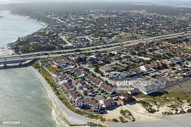 Aerial view of Bluewater suburb of Port Elizabeth