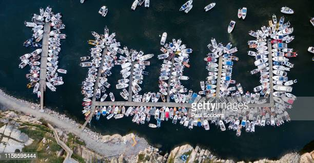 Aerial View of Boat Harbor, Ilulissat, Greenland