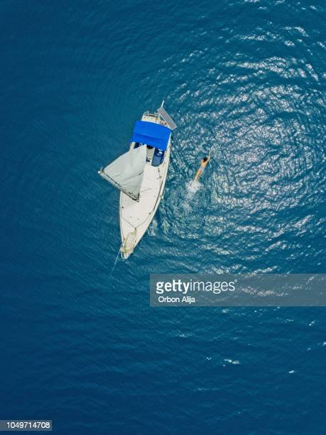 Aerial view of boat