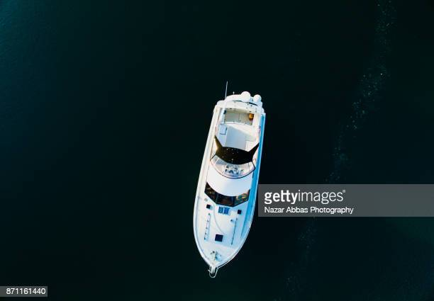 Aerial view of boat.