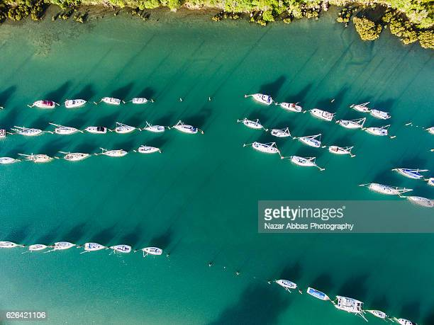 Aerial View of Boat Ramp, Stillwater, Auckland.