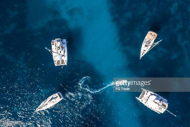 Aerial View of Boats in Croatia