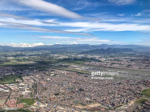 aerial view of bogota - cundinamarca stock pictures, royalty-free photos & images