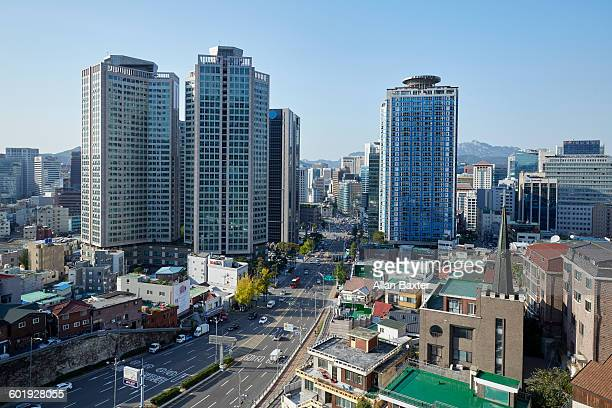 Aerial view of Bongnaedong district of Seoul