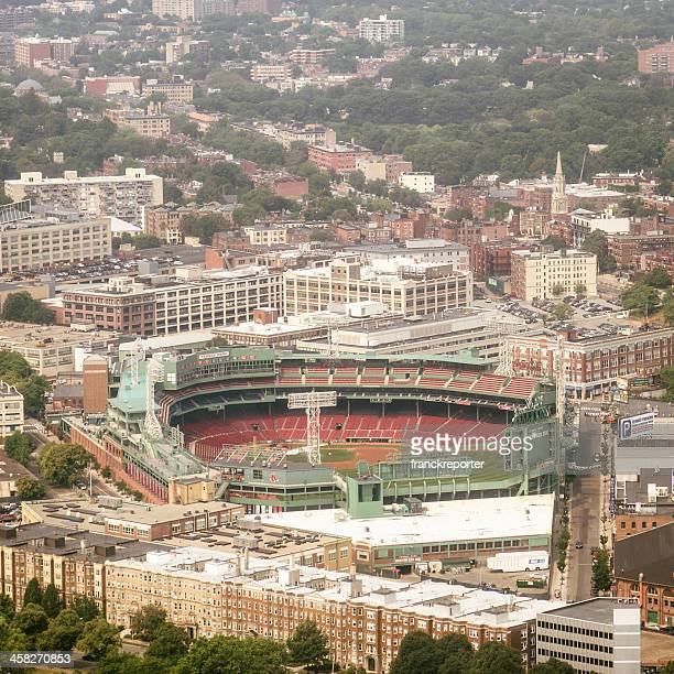 Aerial view of Boston with Fenway Park