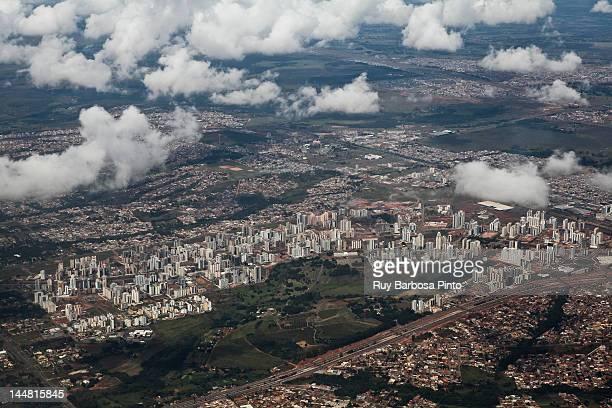 aerial view of brasília - brasilia stock-fotos und bilder