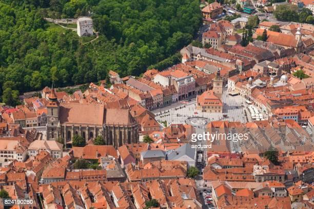 Luftaufnahme von Brasov - Kronstadt - Brassó, Rumänien