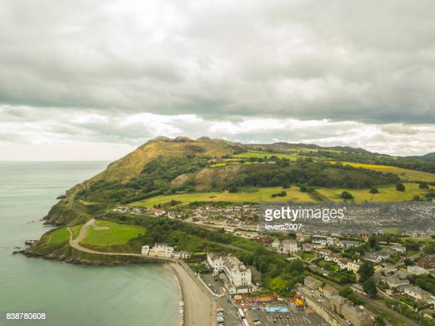 Aerial view of Bray Head, Bray, Co. Wicklow, Ireland.