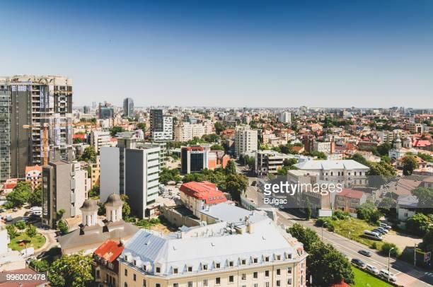 Luchtfoto van Boekarest