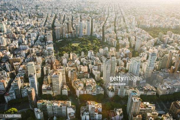 aerial view of buenos aires, argentina - buenos aires stock pictures, royalty-free photos & images