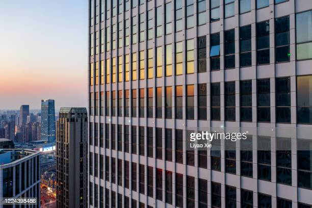 aerial view of building walls - liyao xie stock pictures, royalty-free photos & images