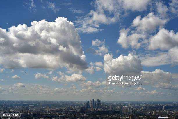 aerial view of buildings against cloudy sky - eyeem stock pictures, royalty-free photos & images
