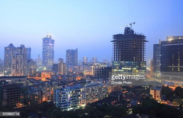Aerial View of buildings at Mumbai, India
