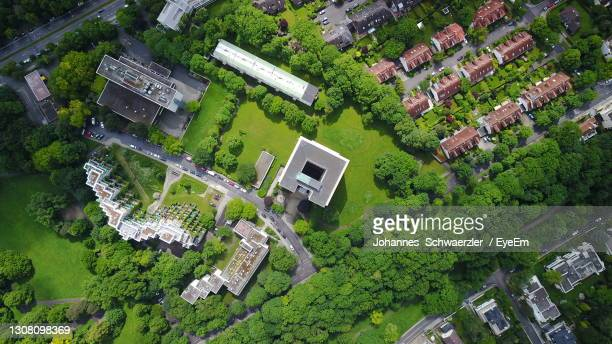 aerial view of buildings in city - munich stock pictures, royalty-free photos & images
