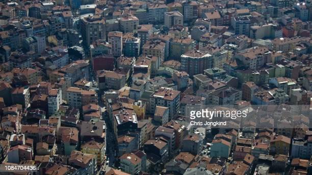 Aerial View of Buildings in Residential Neighbourhood