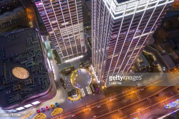 aerial view of buildings - liyao xie stock pictures, royalty-free photos & images