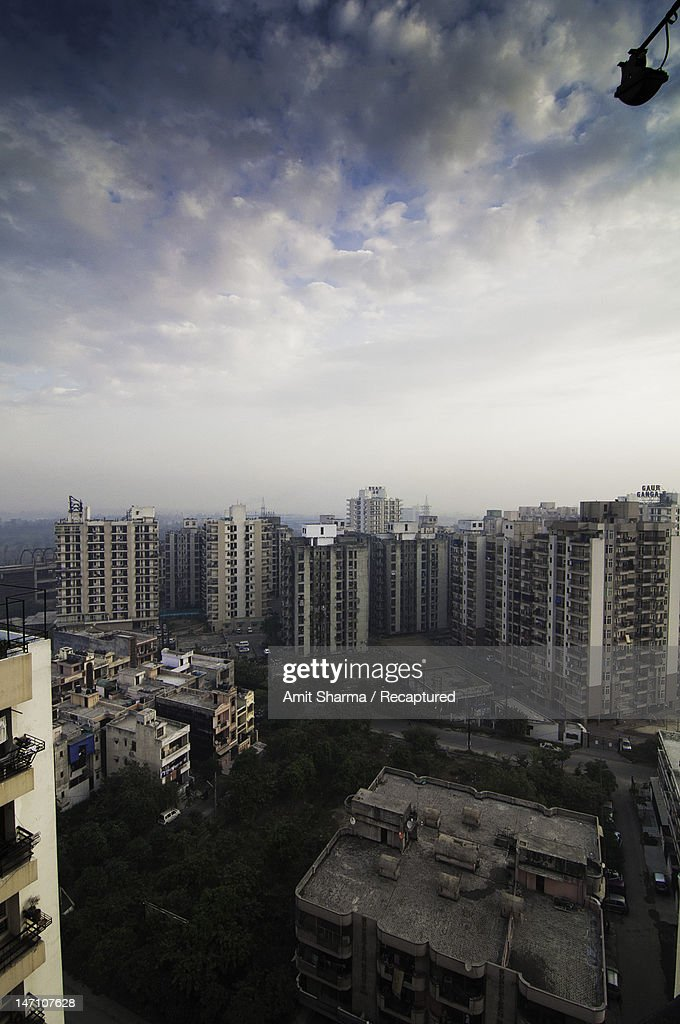 Aerial view of buildings : Stock Photo