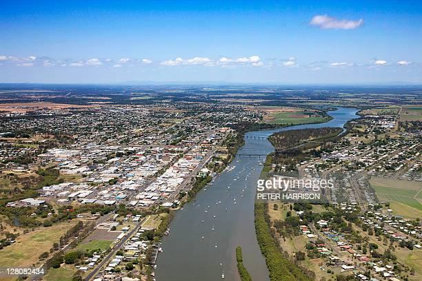 Aerial view of Bundaberg, Queensland, Australia