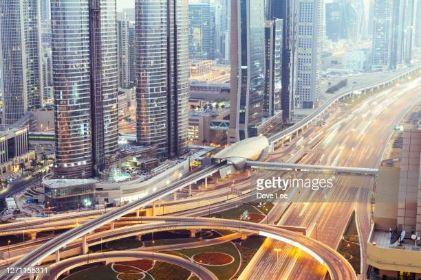 aerial view of busy road intersection - international landmark stock pictures, royalty-free photos & images
