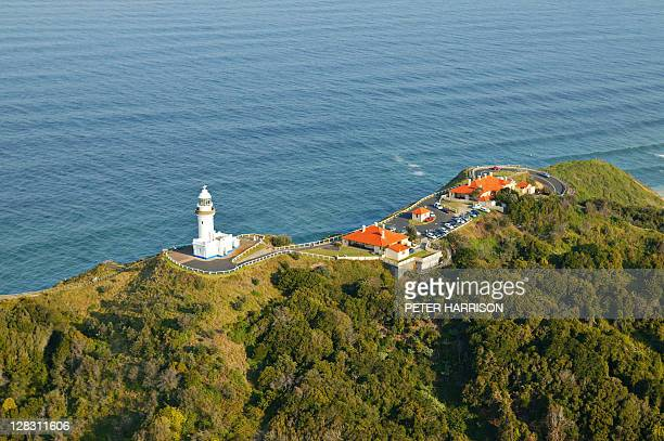 Aerial view of Byron Bay and lighthouse, NSW, Australia