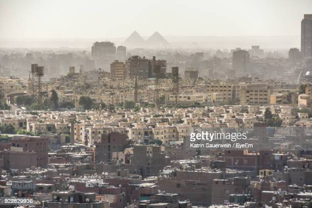 aerial view of cairo - cairo stock pictures, royalty-free photos & images