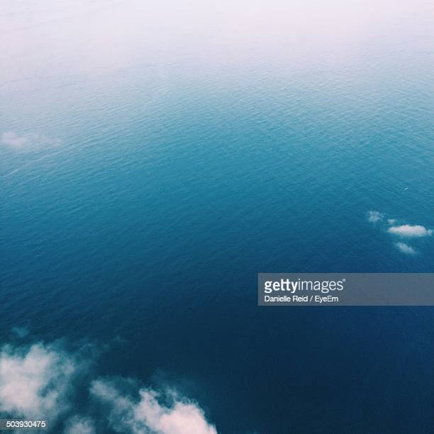 Aerial view of calm blue sea