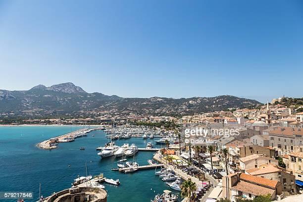 Aerial view of Calvi in Corsica