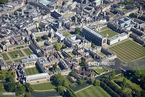 Aerial view of Cambridge and University, England