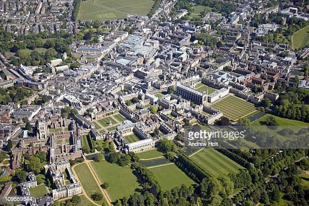 Aerial view of Cambridge, England