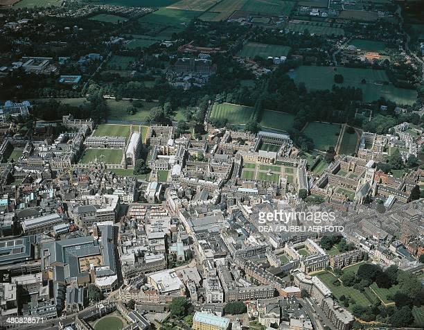 Aerial view of Cambridge England United Kingdom