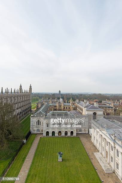 Aerial view of Cambridge in spring time