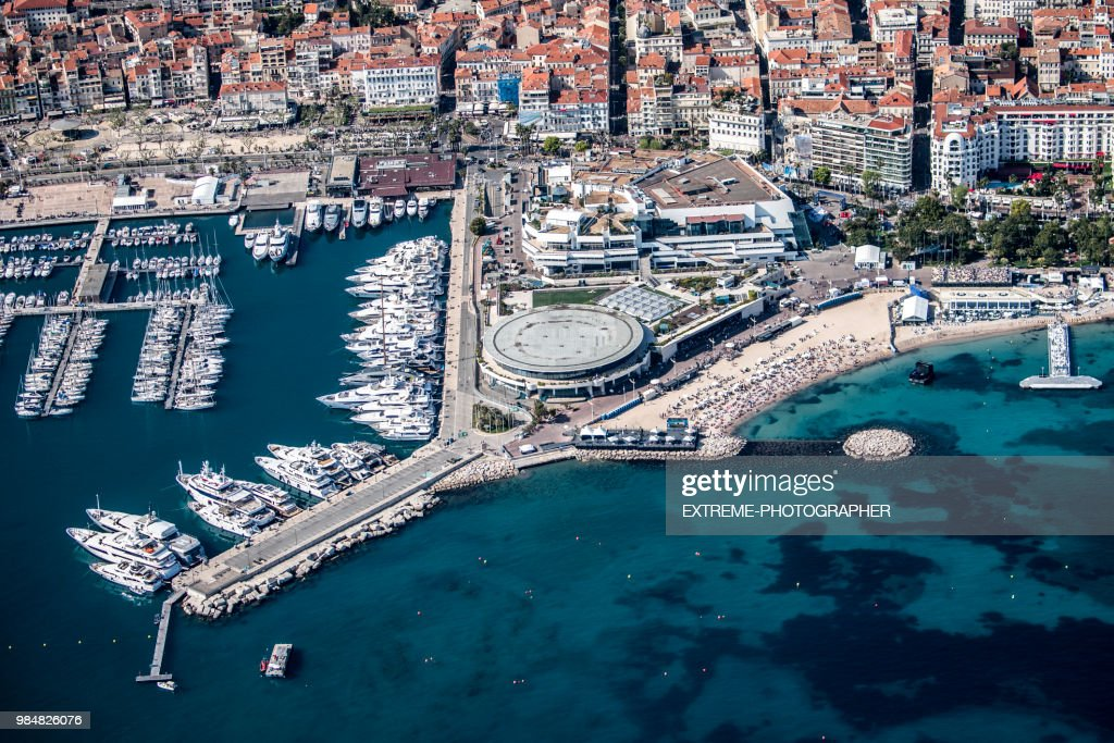 Aerial view of Cannes : Stock Photo
