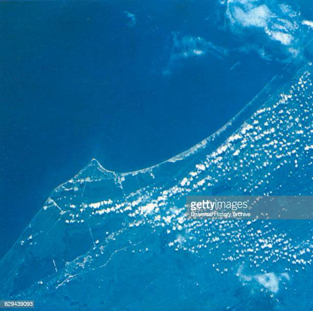 Aerial View of Cape Kennedy Florida USA and Vicinity Taken from Gemini V Spacecraft August 28 1965