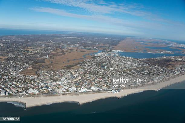 Aerial view of Cape May, NJ.