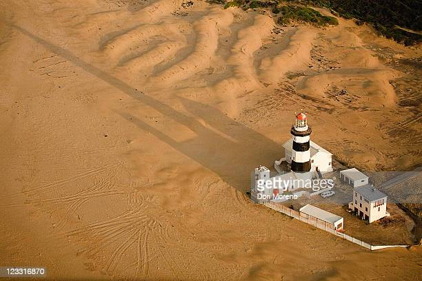 Aerial view of Cape Recife Lighthouse, Nelson Mandela Bay, Port Elizabeth, Eastern Cape Province, South Africa