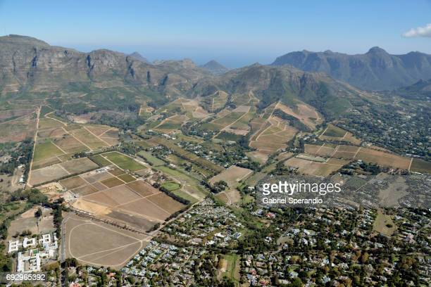 aerial view of cape town - constantia stock pictures, royalty-free photos & images