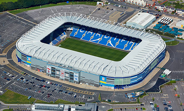 Aerial view of Cardiff City FC stadium