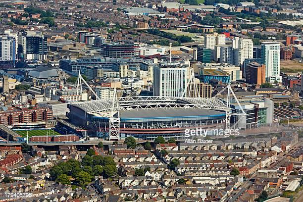 Aerial view of Cardiff Millennium stadium