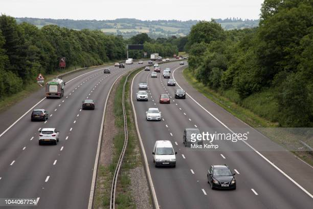 Aerial view of cars and other vehicles on the M42 motorway near Alvechurch United Kingdom A controlledaccess highway is a type of highway which has...