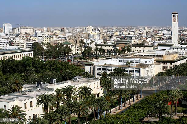 aerial view of casablanca - morocco - casablanca photos et images de collection