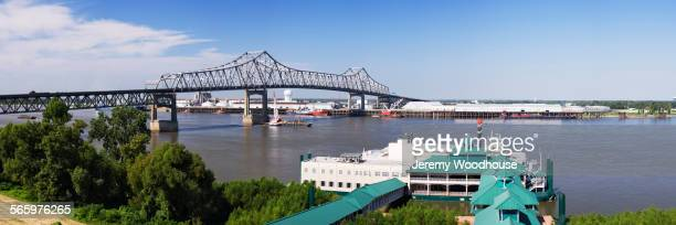 aerial view of casino on baton rouge waterfront, louisiana, united states - baton rouge stock pictures, royalty-free photos & images