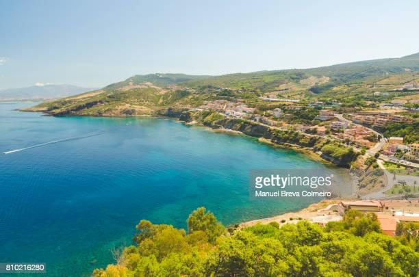 Aerial view of Castelsardo, Sardinia, Italy