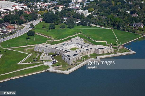 Vue aérienne du château de Marcos, St Augustine, en Floride