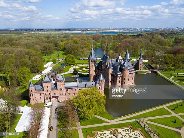 aerial view of Castle de Haar